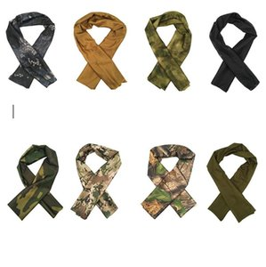 10 color Tactical Hunting camouflage Sniper Cover Multi Scarf Veil Face Mesh Scarves Shawl Desert masks summer outdoor mesh scarf