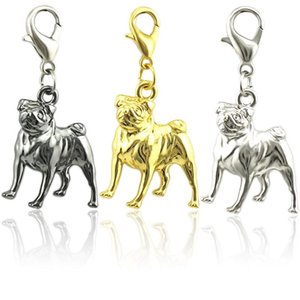 Wholesale JINGLANG Antique Silver Plated Dog Charms Pendants for Jewelry Making DIY Craft Charm Handmade