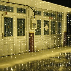Wholesale 10M x M LED Home Outdoor Holiday Christmas Decorative Wedding xmas String Fairy lights Garlands Strip Party Curtain Lights