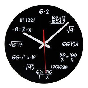 Wholesale Hot Sale Acrylic Wall Clock Maths Equation Modern Design Portugal Euro Novelty Art Unique Watch Clock Home Decoration Accessorie