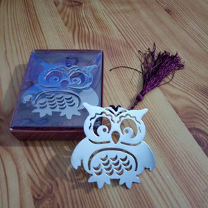 Wholesale Brand New Owl Book Markers Birds with Tassels Metal Bookmark Stationery for Kids Gift