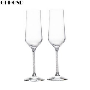 Wholesale GFHGSD Champagne Glass Flutes Perfect for Wedding Gifts Set of Luxury K9 Crystal Toasting Flutes and Wine Glasses RFG102