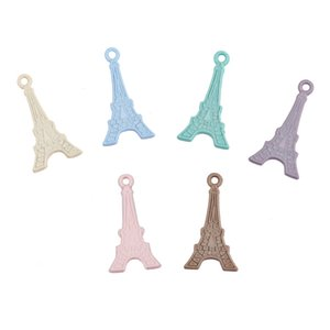 Wholesale Eiffel Tower accessories DIY jewelry accessory Body Jewelry Piercings Stainless SteelKey Jewelry pendants T1C039