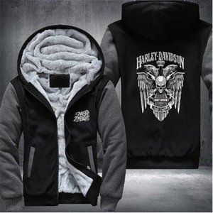 Wholesale New Harley Winter Jackets and Coats Fate zero hoodie Anime Hooded Thick Zipper Men Sweatshirts USA Size