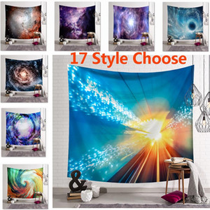 impresión de tapiz al por mayor-150 CM Bohemia Galaxy Sky Star Print Tapestry Colgante de Pared de la Playa Picnic Throw Alfombra Manta Decoración Al Aire Libre Yoga Kids Mat HH7