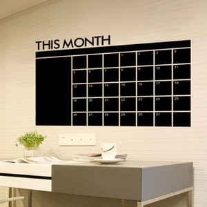 Wholesale calendars pvc for sale - Group buy New This Month blackboard PVC Wall Stickers Monthly Plan Calendar Chalkboard Office School Supplies