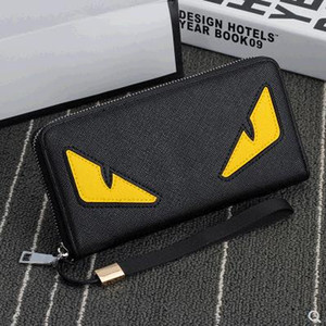 Wholesale 2019 new fashion mens brand designer coffee wallet leather long wallet luxury leather clip folder men top quality Money Purses
