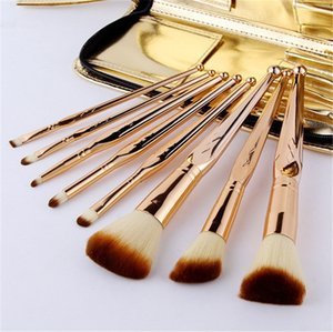 Wholesale 8Pcs Makeup Brushes Set Professional Face Foundation Eyebrow Blush Contour Cosmetic Brushes Make Up Tools Christmas Gifts