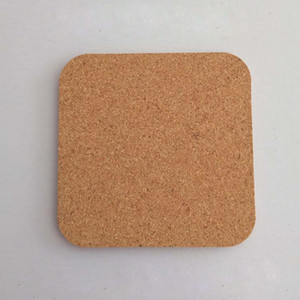 Natural Square Wood Coffee Cup Mat Heat Resistant Cork Coaster Mat Tea Drink Wine Pad Table Decoration ZA6095