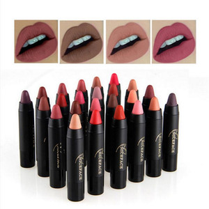 Wholesale dropship cosmetics resale online - DROPship NICEFACE colors Lipstick Pencil Cosmetics Matte Lips Pigment Nude Lipstick Long Lasting Matte Lipstick Pencil Makeup