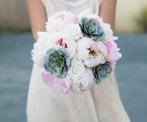 Silk Wedding Succulent Bouquet - Green Gray Pink and Blush Peonies Silk Flower Bride Bouquet, Wedding accessory