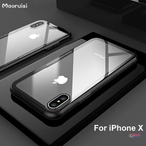For Apple iPhone Xs Max Xr 6 s 7 8 Plus X Tempered glass Transparent Clear Cover Bumper On The Soft TPU Silicone Case