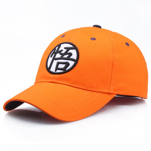 Wholesale High Quality Cotton Dragon Ball Z Goku Baseball Caps Hats For Men Women Anime Dragonball Adjustable HipHop Snapback cap Hat