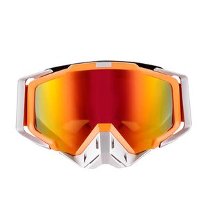 Wholesale HOT Snowboard Off Road Racing Glasses Eyewear Ski Snowmobile Skate Goggles Single Lens Clears personality Dazzling color Comfortable