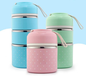 High Quality Hot Sale Cute Korean Thermal Lunch Box Leak-Proof Stainless Steel Bento Box Kids Portable Picnic School Food Container