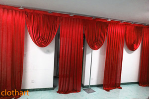 3M high*6m wide swags wedding stylist designs backdrop Party Curtain drapes Celebration Stage Performance Background backcloth draps