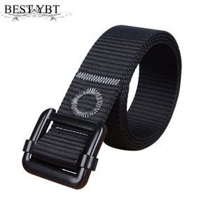Wholesale Bset YBT Unisex Belt Nylon Alloy Ring buckle Women Belt Cowboy Outdoor Sports Personality decoration High Quality Men
