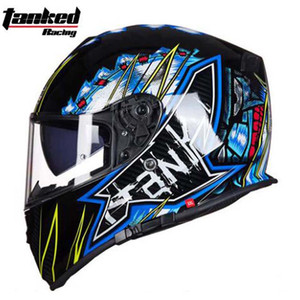 New Tanked Motorcycle Full Helmet Double Lens knight Racing Motorbike helmet safety caps ECE Certificate Size L XL XXL