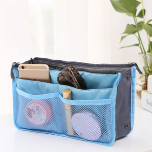 Wholesale Makeup Bag Purse Cosmetic MP3 Mp4 Phone Storage Organizer Sundry Bags Cosmetics Bags Multi Two Zipper Bag