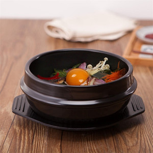 Korean Cuisine Dolsot Stone Bowl Earthenware Pot For Bibimbap Miso Soup Ceramic Sturdy Heatproof Pots With Tray High Quality 16ff2 Z