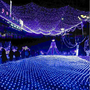 Wholesale Large Size mx8m LED Net Mesh Fairy web String Light twinkle lamp Lighting Christmas Xmas Wedding Garland Party Decor color choose