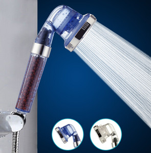Bathroom Shower Heads 3 Function 125 Degrees High Pressurize Handheld Showering Head Water Saving Plastic Bath Filter Spray