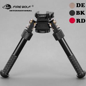 BT10-LW17 V8 Atlas 360 degrees Adjustable Precision Bipod QD Mount For Rifle Hunting Mount BK RD DE