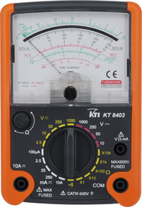 KT8403 high class portable CAT III 600V analog multimeter 20 ranges 6 functions electric tester MAX voltage up to 1000V