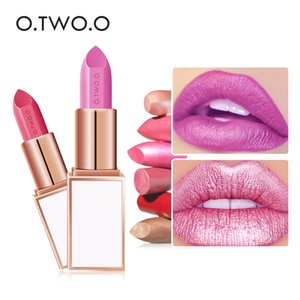 Wholesale O TWO O shimmer matte lipstick pencil waterproof long lasting smooth soft lip cream colors diamond glitter lip gloss