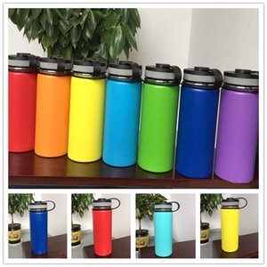 18oz 32oz 40oz Vacuum Water Bottle Insulated Stainless Steel Water Bottles 18 32 40 OZ Wide Mouth Sports Hydration Gear travel Cups