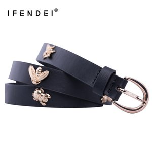 женские ремни оптовых-IFENDEI Soft PU Leather Women s Belt Waist Style Belts For Women Insects Bee Designer Strap New cinturon mujer