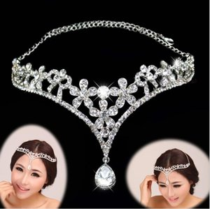 Korean brides, forehead, eyebrows, pendant, diamond, brides, headgear, hot Rhinestone, bridal jewelry, veil accessories.