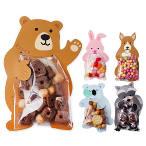 Wholesale baby shower greeting cards resale online - Cute Animal Bear Rabbit Koala Candy Bags Greeting Cards Cookie Bags Gift Bags Baby Shower Birthday Party Decoration
