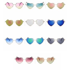 Fashion Heart-shaped Sunglasses for Girl Retro Metal Frame Pink Mirror Sunglasses Women Vintage Sun Glasses Outdoor Eyewear 150pcs