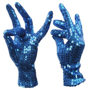Wholesale Festival Sparkle Gloves Sequin Wrist for Party Dance Event Safety Kids Bling Cool Fashion Gloves Guantes mujer