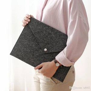 Designer File Pocket Button Press Document Envelope A4 Felt File Folder Portable Archival Filing Supplies Wallets For Business Men 4ry ZZ