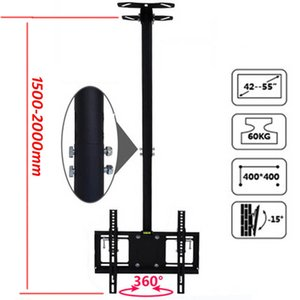 Wholesale 2M Steel X400 inch inch tilt up down rotate tv wall mount lcd ceiling bracket wall ceiling led stand plasma tv holder