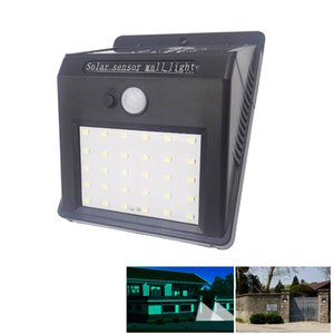 Wholesale Outdoor LEDs Split Solar Powered Light Bulb PIR Motion Sensor Modes Waterproof Separate Garden Street Night Lamp Wall Light