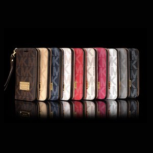 Wholesale Luxury leather flip Phone Case for Samsung S9 S8 S7 S6 Hybrid TPU Back case cover for iphone7 XS Max XR iphone p s Plus card slot cases