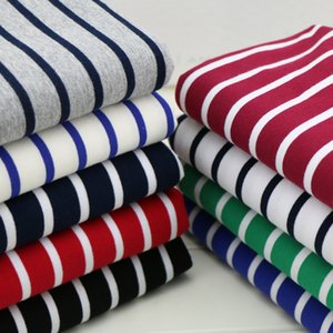 170x 50cm 95% cotton yarn dyed stripe fleece fabric spring and autumn clothes between cloth high elastic deformation 430g m