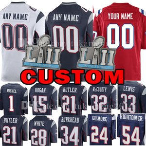 Custom New Jersey Patriot 15 Chris Hogan 1 Sony Michel 32 McCourty 34 Burkhead 24 Gilmore 54 Hightower 21 Butler 28 White 33 Lewis on Sale