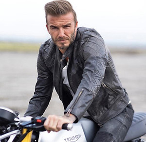 Wholesale Hot sales Beckham s same style Young man Slim leather jacket Harley Motorcycle Short clothing Genuine Cowhide Leather