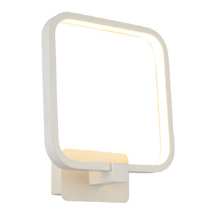 Wholesale Modern W LED Bedroom Wall Light Square White Aluminum Frame Mirror Front Wall Sconce Creative Stair Corridor Bathroom Wall Lightings