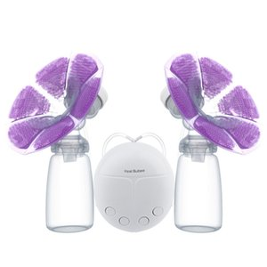 Wholesale Real Bubee Double Electric Breast Pump With Milk Bottle Convenient USB PP BPA free Powerful Breast Pumps Baby Breast Feeding New