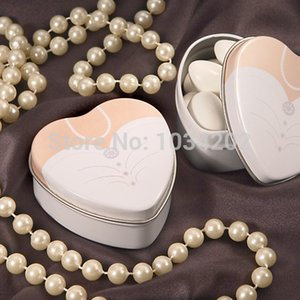 Wholesale Dressed To The Nines Heart Shaped Bride Or Groom Mint Tins Tin Candy Box Boxes Wedding Gift Favors
