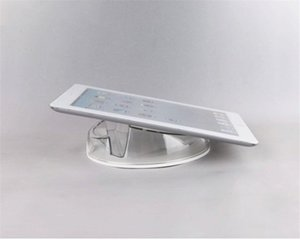Wholesale 10 Acrylic security Ipad stand tablet display holder round clear base for apple samsung shop tablet pc