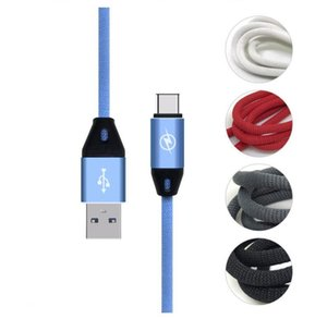 Wholesale Quick Charger A m FT Micro TYPE C Cloth Braided Fabric nylon usb data sync charger cable for samsung