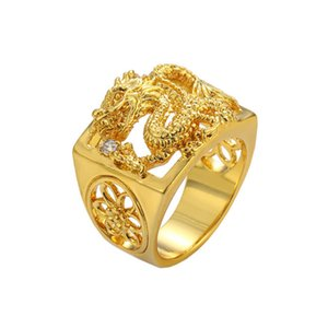 Wholesale Gold Dragon Ring Fluorescent Light Dragon Ring Band Fashion Jewelry For Women Men Lovers Wedding Ring Drop Shipping