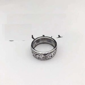 Wholesale High quality 925 sterling silverJapanese-Korean fashion brand ring silver lovers men British-style Vintage old ring ring