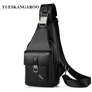 мужские посыльные сумки оптовых-Summer Men s Chest Bags Leather Crossbody Sling Shoulder Bags For Men Casual Travel Messenger Bag Anti theft Chest Pack